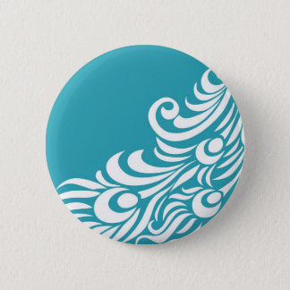 Stunning Peacock Feather Silhouette Print 2 Inch Round Button