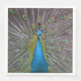 Stunning Peacock Paper Dinner Napkin