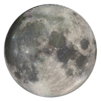 Stunning Photo of the Moon Party Plate