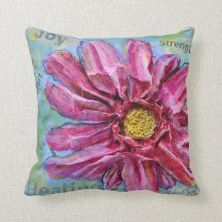 Stunning Pillow of a Pink Zinnia in 3D