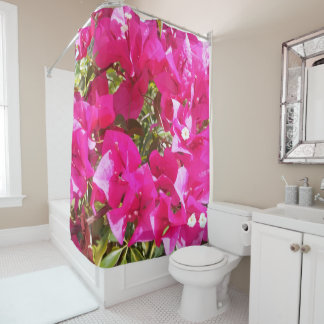 Stunning Pink Bougainvillea Print Shower Curtain