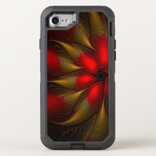 stunning poinsettia flower OtterBox defender iPhone 7 case