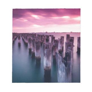 Stunning Princes Pier Port Melbourne at Dusk Notepads