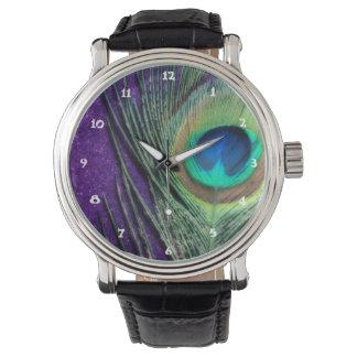 Stunning Purple Peacock Wristwatches