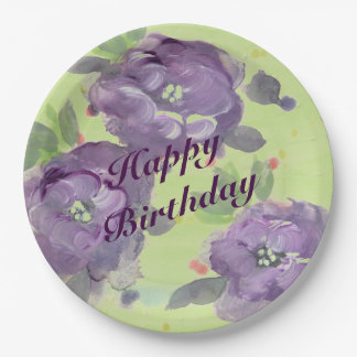 Stunning Purple Watercolor Event Paper Products 9 Inch Paper Plate