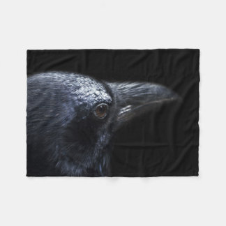 Stunning Raven's Head Fleece Throw Blanket