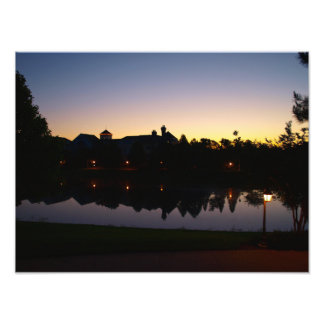 Stunning rooftop sunrise in Orlando, Florida Photo Print
