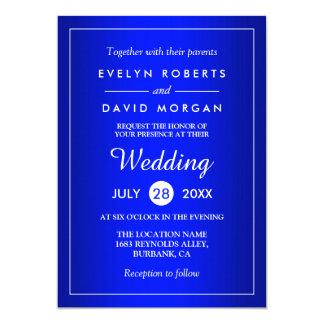 Stunning Royal Blue Classy Wedding Invitation Card