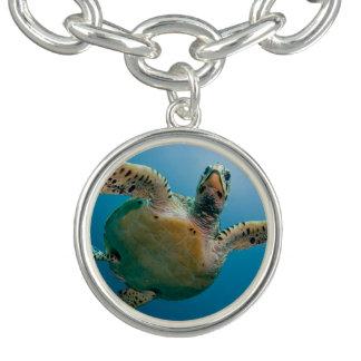 Stunning sea tortoise charm bracelet