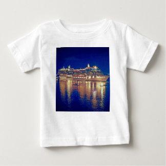 Stunning Ship Nightlights Reflecting on water Baby T-Shirt