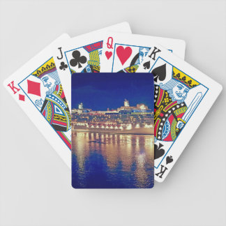 Stunning Ship Nightlights Reflecting on water Bicycle Playing Cards