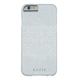 Stunning Silver & Lace Monogram Barely There iPhone 6 Case