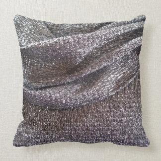 Stunning Silver Pattern Throw Pillow