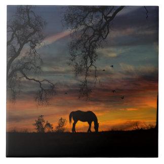 Stunning Southwestern Horse Art Tile