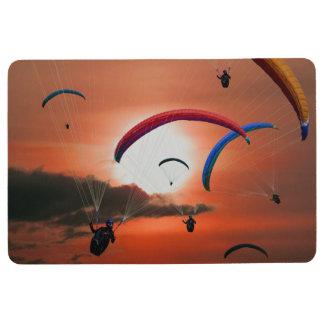 Stunning sunset paragliding floor mat