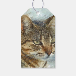 Stunning Tabby Cat Close Up Portrait Gift Tags