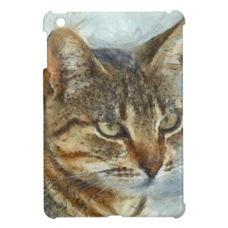 Stunning Tabby Cat Close Up Portrait iPad Mini Cover