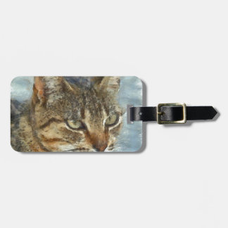 Stunning Tabby Cat Close Up Portrait Luggage Tag