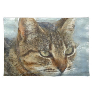 Stunning Tabby Cat Close Up Portrait Placemat