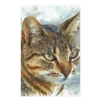Stunning Tabby Cat Close Up Portrait Stationery