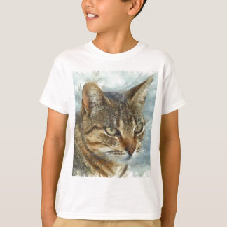 Stunning Tabby Cat Close Up Portrait T-Shirt
