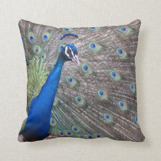 Stunning Vintage Peacock Throw Pillow