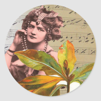 Stunning Vintage Woman Collage Sticker