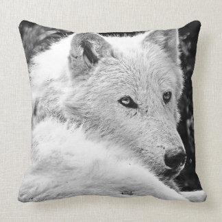 Stunning White Wolf Throw Pillow