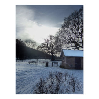 Stunning Winter Snow Scene In Park Poster