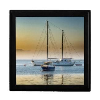 Stunning yacht and boat at marina gift box