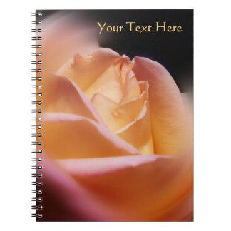 Stunning Yellow Rosebud Flower Note Books