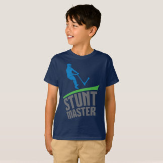 STUNT MASTER, extreme scoot, scooter kids t-shirt