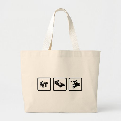 Stunt Rider Tote Bags