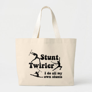Stunt Twirler Large Tote Bag