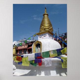 Stupas at Boudhanath Poster