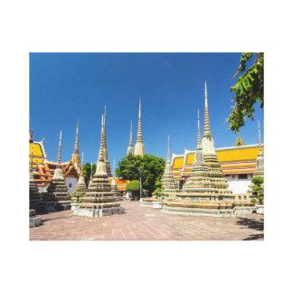 Stupas, Wat Pho, Bangkok, Thailand Canvas Print