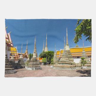 Stupas, Wat Pho, Bangkok, Thailand Kitchen Towel