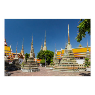 Stupas, Wat Pho, Bangkok, Thailand Poster