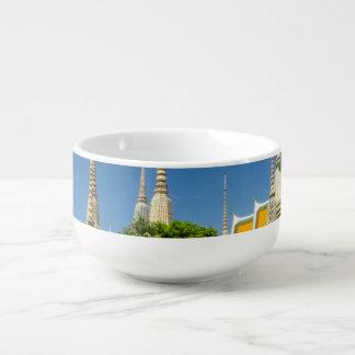 Stupas, Wat Pho, Bangkok, Thailand Soup Mug