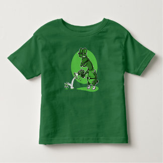 stupid alien cartoon style funny illustration toddler t-shirt