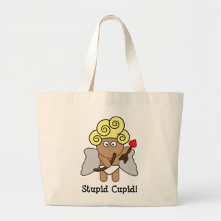 Stupid Cupid Large Tote Bag
