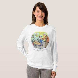 Stupid Excuse womens long sleeve cartoon shirt