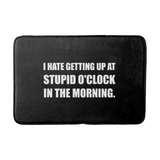 Stupid O'Clock Morning Bath Mat