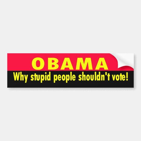 stupid people bumper sticker