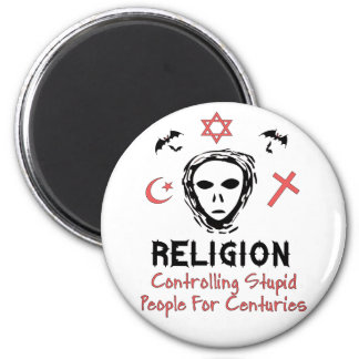 Stupid People Control 2 Inch Round Magnet