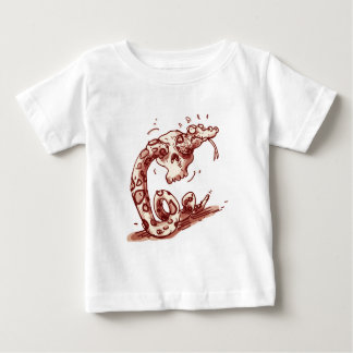 stupid snake trying to pass through into the skull baby T-Shirt