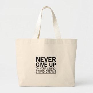 Stupid Stupid Dreams Large Tote Bag
