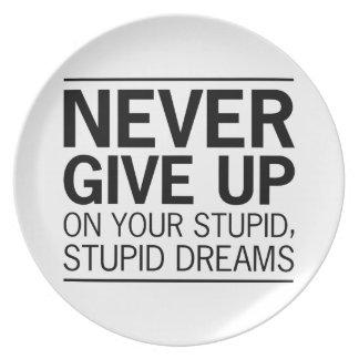 Stupid Stupid Dreams Plates
