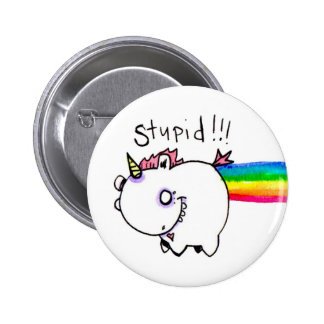 Stupid Unicorn by Emi Boz 2 Inch Round Button