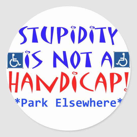 Stupidity Classic Round Sticker
